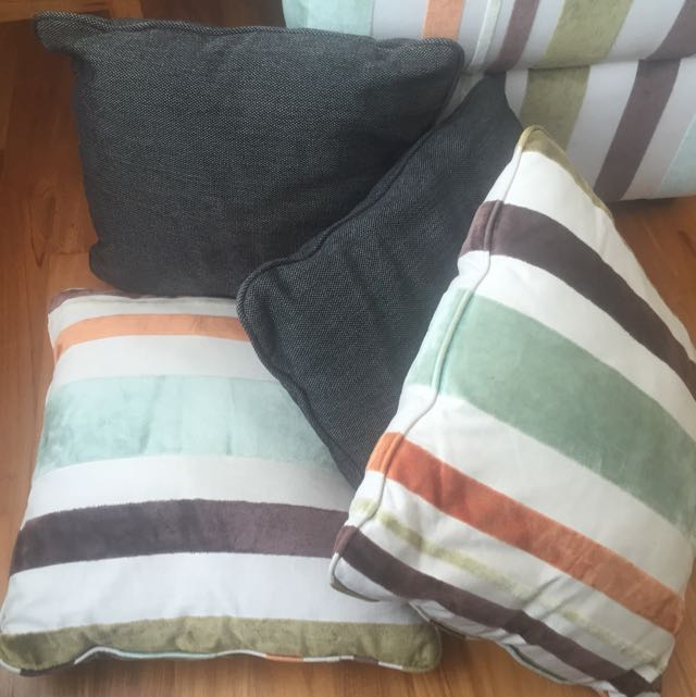 Ottoman And 4 Pillows - MUST SELL LEAVING SINGAPORE