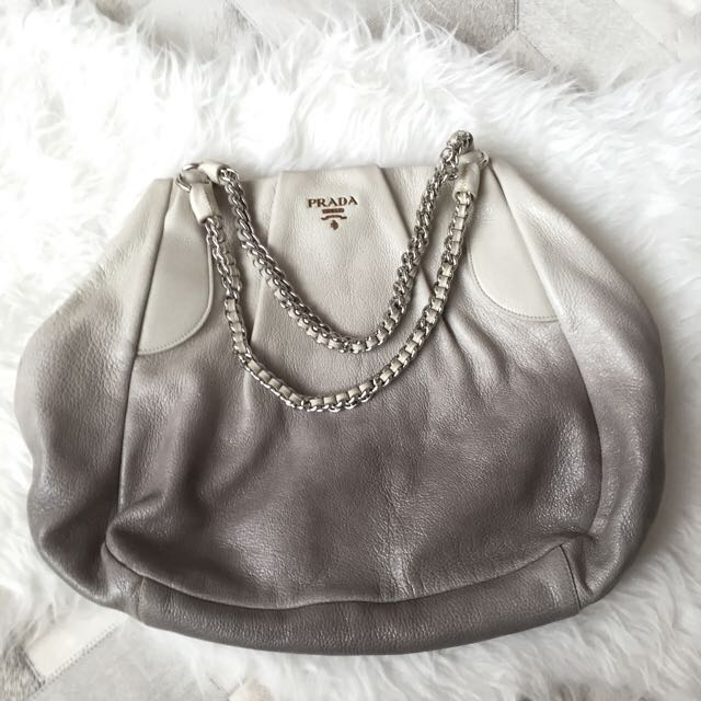 3f1931275b42 Authentic Prada Cervo Lux Leather Chain Bag