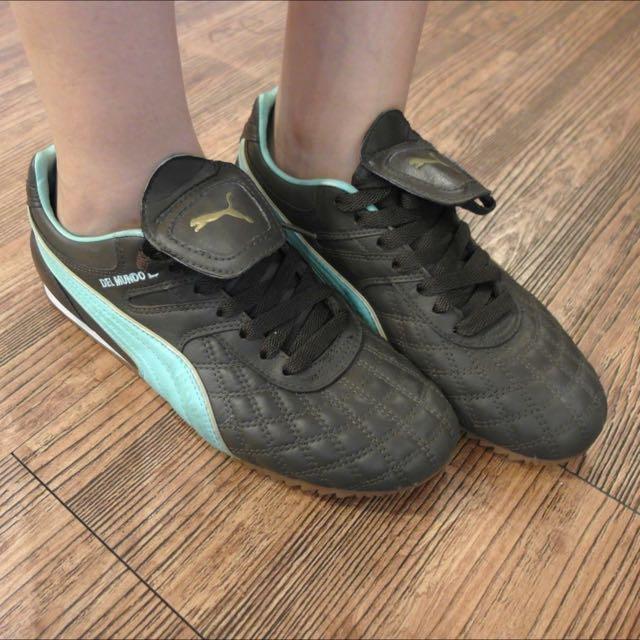 Puma皮革菱紋慢跑鞋