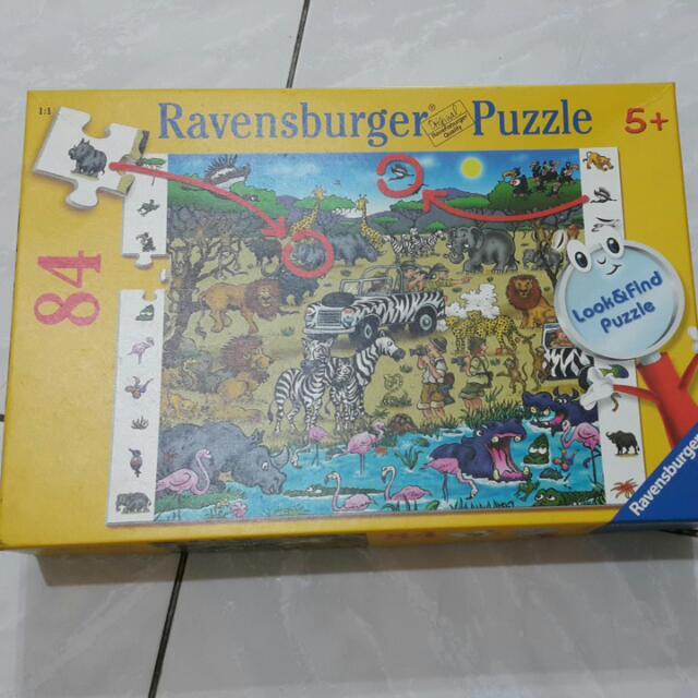 Ravensburger維寶拼圖84片--野生動物-八成新