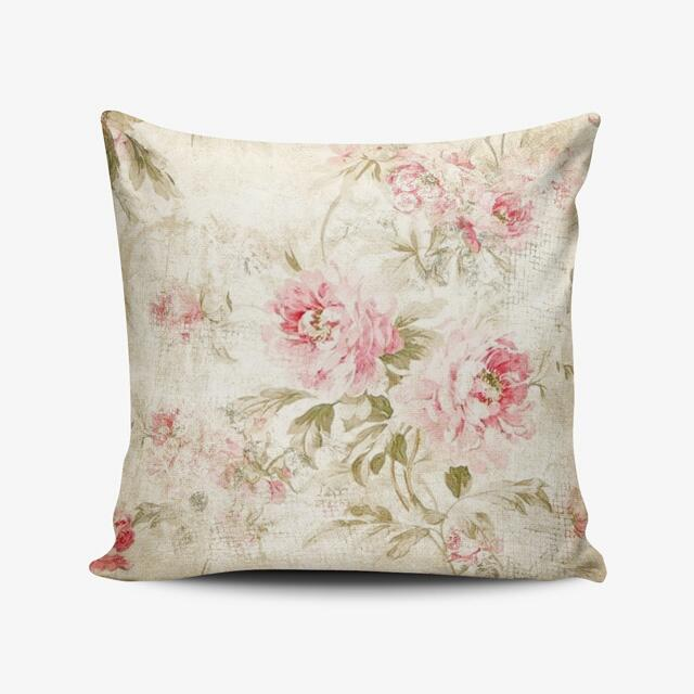 Vintage Rose Shabby Chic Throw Pillow Cushion Cover - Bantal Custom Nama - Kado Wedding Souvenir