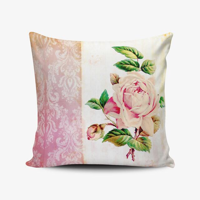 Vintage Roses Throw Pillow Cushion Cover Bantal Kursi Print - Kado Ulang Tahun