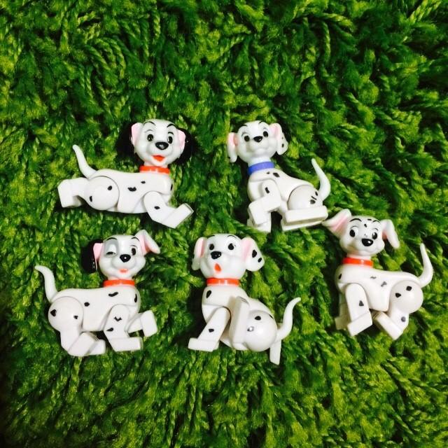 Yujin 迪士尼 積木人 101忠狗 絕版品 稀有 五隻一組 無蛋紙&蛋殼