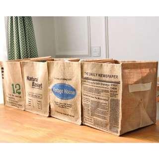 zakka創意折疊棉麻收納盒 整理盒 四款可選