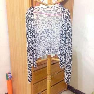 Fashion豹紋薄外套 全新