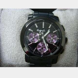 agnes b腕錶-IP黑x紫