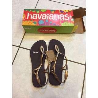 【待匯款】havaianas 哈瓦仕 / Luna - 細帶 珠光 涼鞋款 39/40