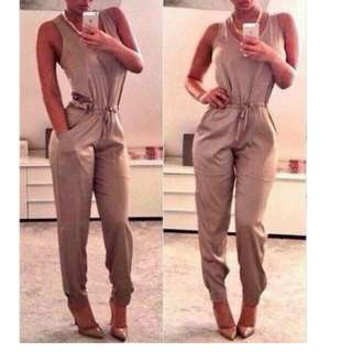 New Womems Ladies Clubwear V Neck Romper Trouser And Jumpsuit