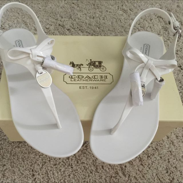 af324cd4c08 100% Authentic Brand New Coach Helma Jelly Thong Sandals Size US 9 ...