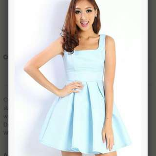 Lara' J Blanc Square Dress in Baby Blue $27