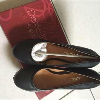 denise miss 鞋 厚低高跟 粗跟鞋 23.5 全新