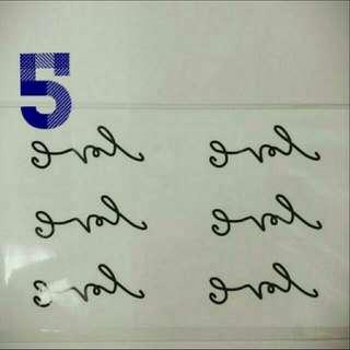 紋身貼紙👉No.5