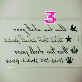 刺青貼紙👉No.3