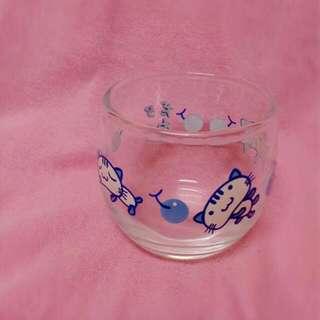 全新可愛貓咪玻璃小杯子