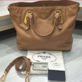 Prada Calf Leather Tote Bag