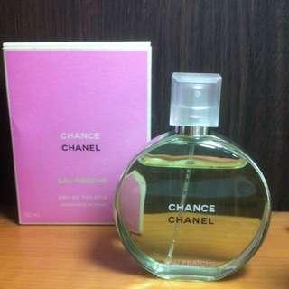 CHANEL CHANCE香水50ml綠色的哦