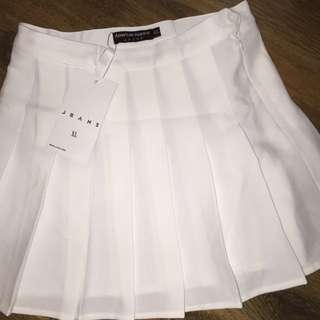 AMERICAN APPAREL white tennis skirt XL