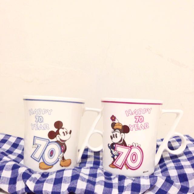米奇米妮70週年紀念對杯