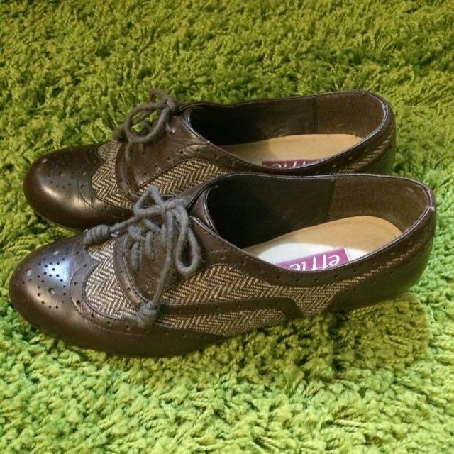 🎀阿瘦皮鞋🎀復古低跟牛津鞋