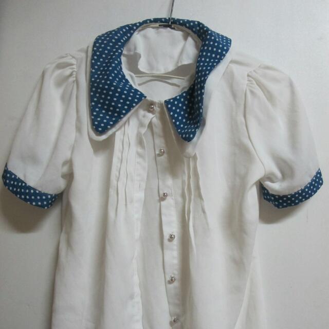 點點衣領襯衫