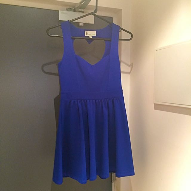 Bettina Liano Blue Dress Sz 8