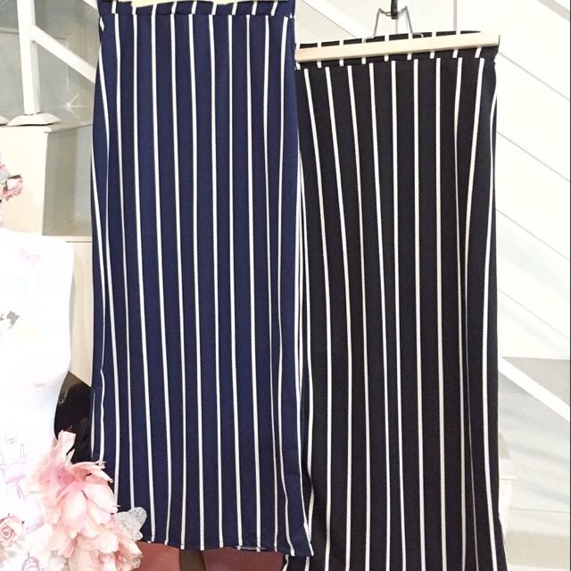 BILLIE STRIPE LONG SKIRT SPAN