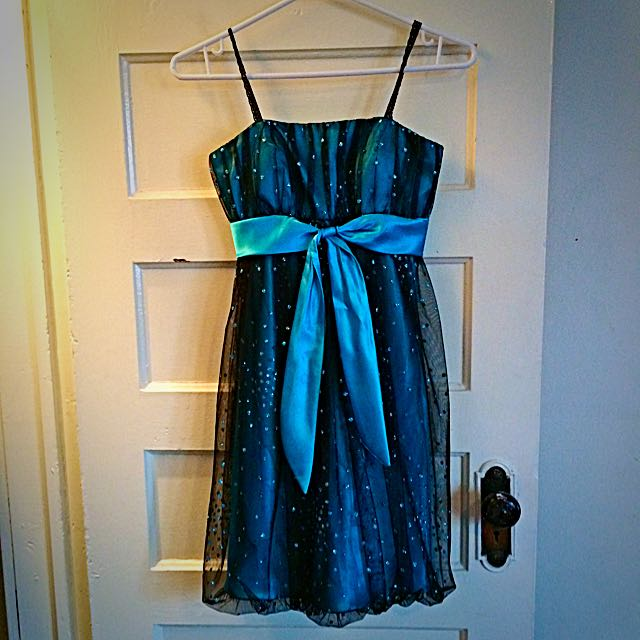 Black And Light Blue Tulle Party Dress (Lightly Used