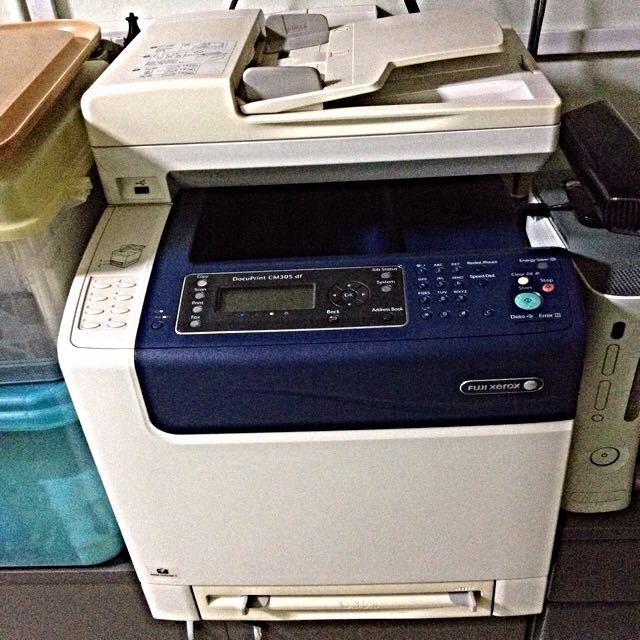 Colour Laser Printer with Cabinet- Fuji Xerox DocuPrint