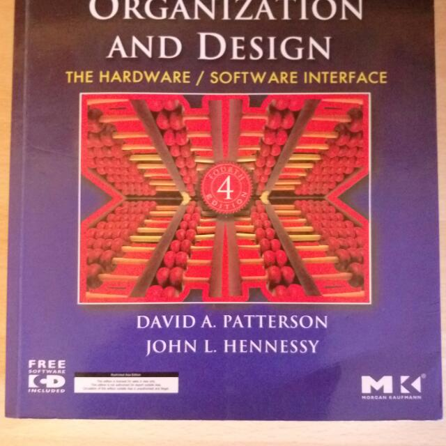 Computer Organization And Design The Hardware Software Interface Cs2100 Textbook Books Stationery On Carousell