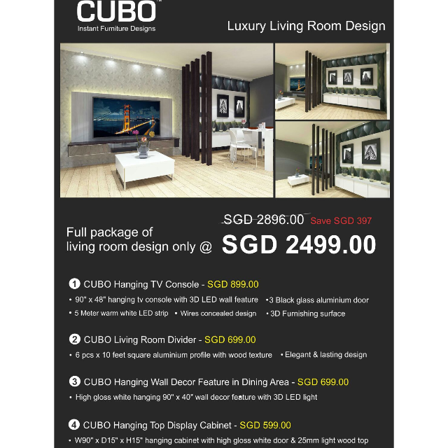 Cubo Living Room Package Furniture On Carousell