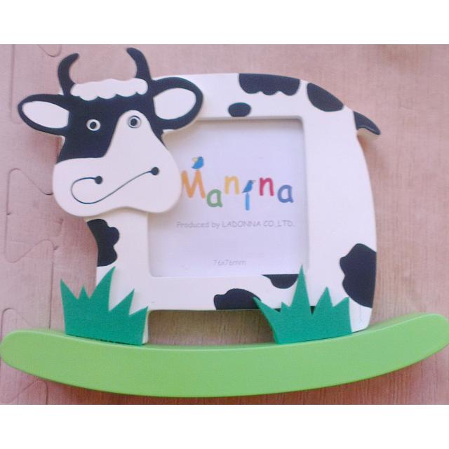 日本品牌-LADONNA Baby系列 MANINA 好奇寶寶造型相框-【搖擺乳牛款】
