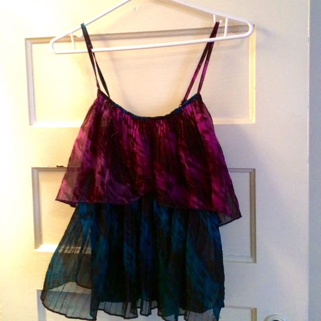 Purple And Blue Layered Top