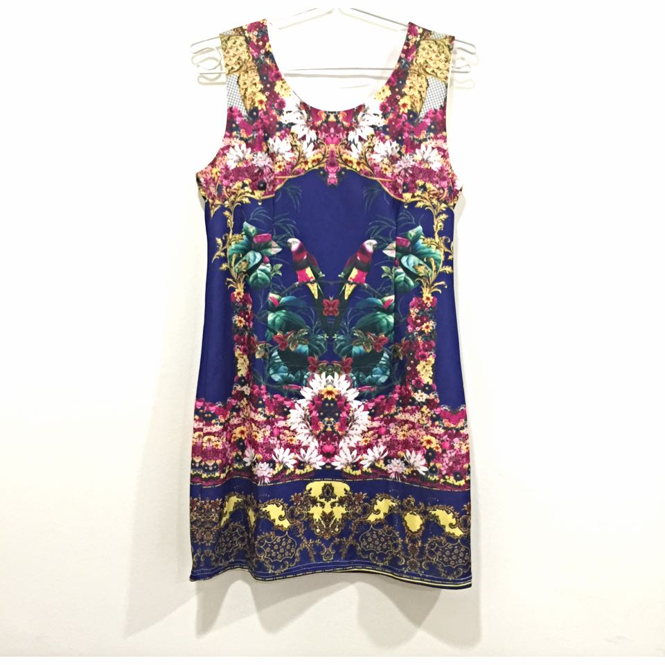 (clearance) Smooch the Label Graphic Print Shift Dress