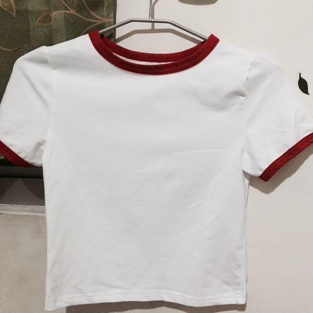 行星短板白紅T-shirt