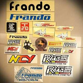 改裝品牌各式貼紙