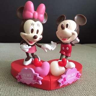 (保留中)七夕情人節商品💕 米老鼠 米奇米妮情人公仔組 米老鼠