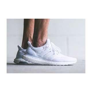 售罄!!Adidas Ultra Boost 白色 編織 跑鞋