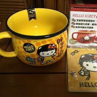 Hello Kitty仿陶瓷碗加杯墊