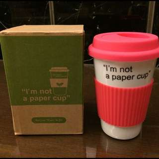 I'm Not A Paper Cup 陶瓷杯 桃粉白
