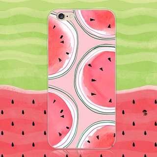 Iphone6西瓜創意全包覆軟殼