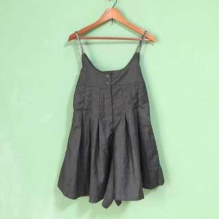 高腰吊帶褲裙