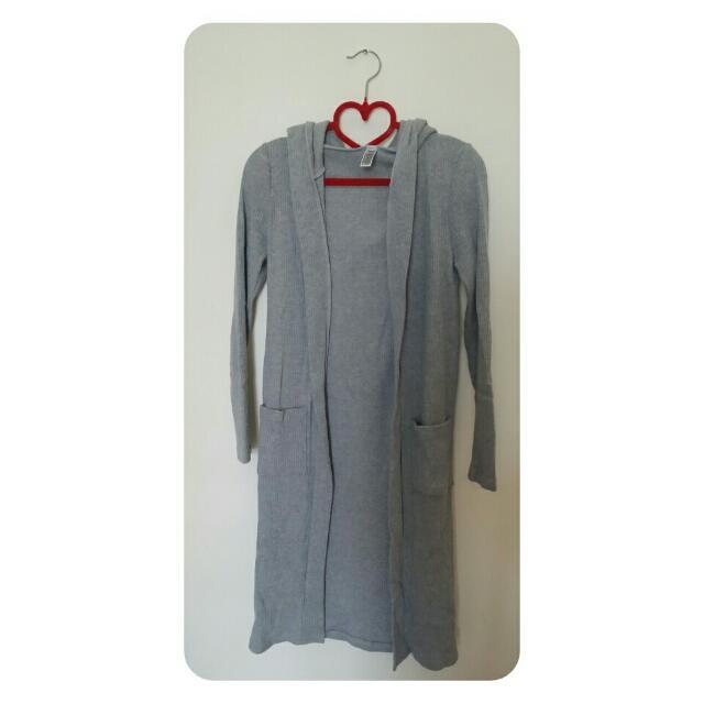 長版灰色外套