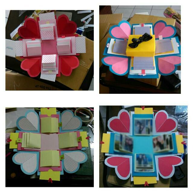 有現貨哦 客製化 情人節 生日 手做卡片爆炸禮物盒(旋轉相簿版)