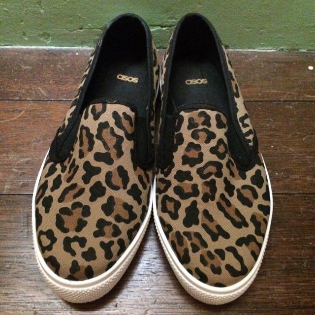 全新 ASOS 豹紋 懶人鞋 平底鞋 Toms Vans 可參考
