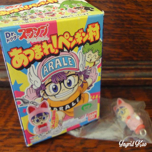 全新 BANDAI ARALE 怪博士與機器娃娃 丁小雨 阿拉蕾 機器娃娃 盒玩 - 2007年 貓裝 吊飾