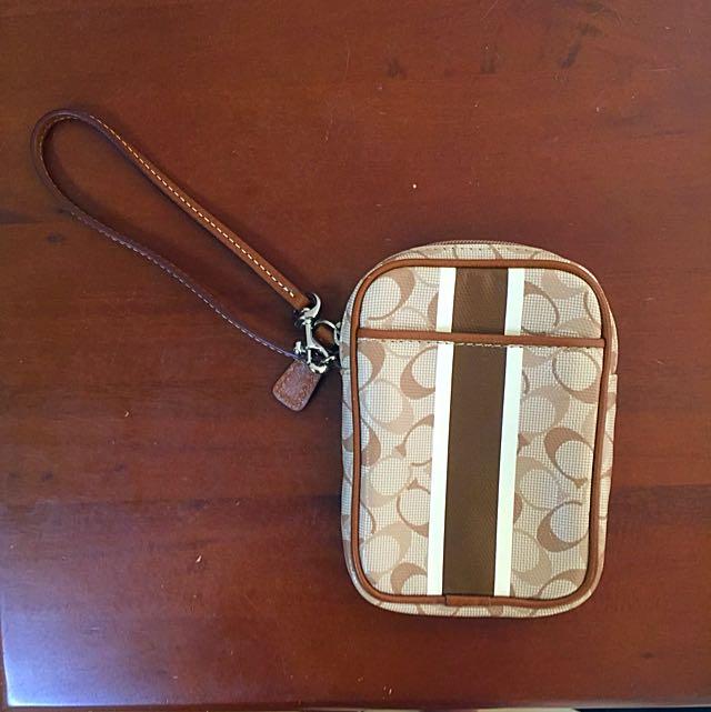 coach防水手機袋(全新正品)