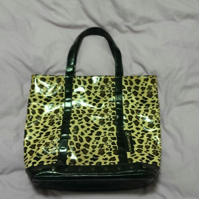 (二手)CONVERSE 豹紋購物袋