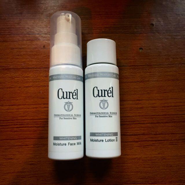 (二手)Curél 珂潤美白化妝水+乳液旅行組