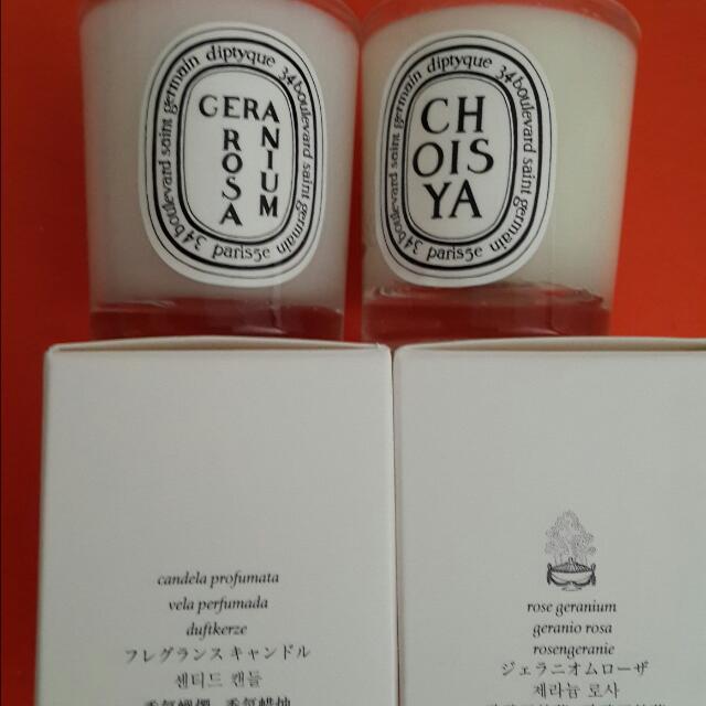 Diptyque 玫瑰天竺葵 迷你香氛蠟燭35g二手品