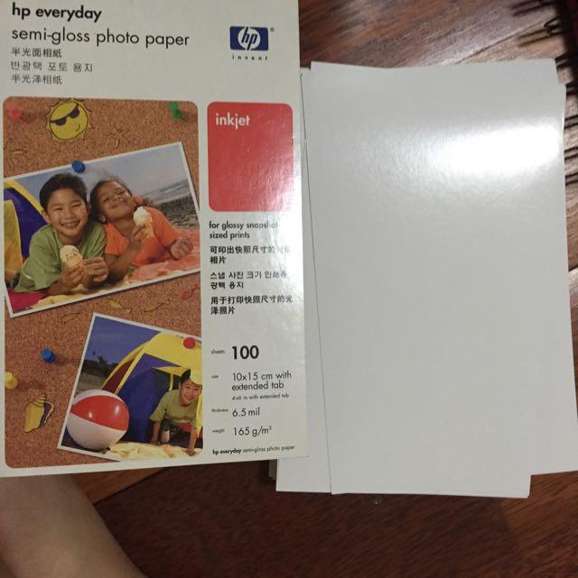 HP Semi gloss photo paper